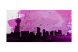 Vancouver City Skyline Art by  NaxArt