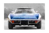 1972 Corvette Front End Watercolor Kunst