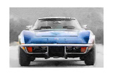 1972 Corvette Front End Watercolor Arte por  NaxArt