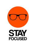 Stay Focused Circle 1 Print by  NaxArt