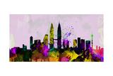 Kuala Lumpur City Skyline Prints by  NaxArt