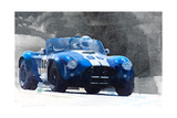 1964 AC Cobra Shelby Racing Watercolor Prints by  NaxArt