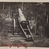 Free State of Verhovac-July 1916: Italian Soldier Next to a Cannon in Cereschiatis Photographic Print