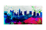 Columbus City Skyline Print by  NaxArt