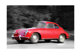 1963 Porsche 356 C Watercolor Prints by  NaxArt