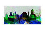 Tulsa City Skyline Art by  NaxArt