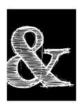 Ampersand 2 Plakat af NaxArt