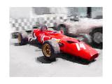 Ferrari 312 Laguna Seca Watercolor Print
