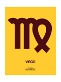Virgo Zodiac Sign Brown Prints