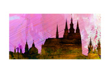 Prague City Skyline Poster by  NaxArt