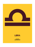 Libra Zodiac Sign Brown Prints by  NaxArt