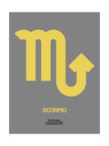 Scorpio Zodiac Sign Yellow on Grey Art by  NaxArt