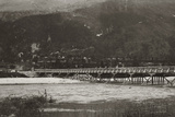 First World War: A Military Bridge in the Upper Isonzo, Idersko Photographic Print