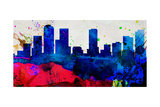 Denver City Skyline Posters by  NaxArt