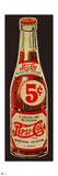 Vintage 1940s 5¢ Pepsi Bottle Cutout Wall Decal