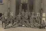Soldiers of the 152nd Infantry Regiment - Company Workers at the Launch of Bombs Photographic Print