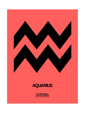 Aquarius Zodiac Sign Black Posters by  NaxArt