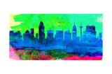 San Antonio City Skyline Prints by  NaxArt