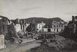 Lucinico Rubble, in the Background the Mountain Podgora Photographic Print
