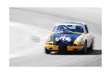 Porsche 911 on Race Track Watercolor Prints by  NaxArt
