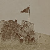 First World War-Campaign Libya: Military Fort in Derna Fotografisk tryk