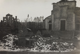 World War I: Rubble of the Church and the Square of Asiago Photographic Print