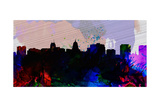 Madison City Skyline Print by  NaxArt