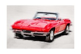 1964 Corvette Stingray Watercolor Posters by  NaxArt