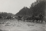 First World War: Artillery Military Parade Photographic Print