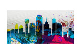 Dallas City Skyline Prints by  NaxArt