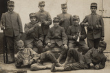 Soldiers of the 157th Infantry Regiment with Bugler Photographic Print