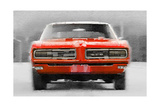 1968 Pontiac GTO Front Watercolor Posters by  NaxArt