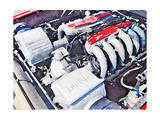 Ferrari 512 TR Testarossa Engine Watercolor Posters