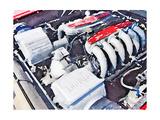 Ferrari 512 TR Testarossa Engine Watercolor Posters by  NaxArt
