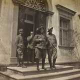 WWI: Bersagliere and Officers in Front of Villa Brazzà Photographic Print