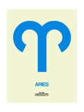 Aries Zodiac Sign Blue Prints by  NaxArt