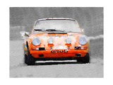 Porsche 911 Race Track Watercolor Premium Giclee Print by  NaxArt