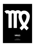 Virgo Zodiac Sign White Print by  NaxArt