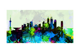 Shanghai City Skyline Print by  NaxArt