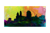 Cincinnati City Skyline Prints by  NaxArt
