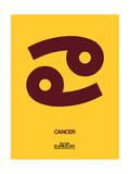 Cancer Zodiac Sign Brown Posters by  NaxArt