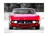 Ferrari 365 GTC4 Front Watercolor Prints