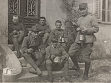 First World War: A Group of Soldiers During the Rations Photographic Print