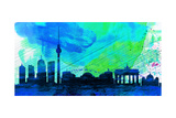 Berlin City Skyline Art by  NaxArt