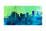 Portland City Skyline Posters by  NaxArt