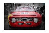 1967 Alfa Romeo GTV Watercolor Art by  NaxArt