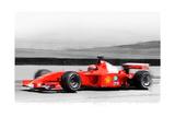 Ferrari F1 Laguna Seca Watercolor Print