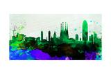 Barcelona City Skyline Posters by  NaxArt