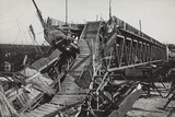 A Bridge after the Bombing of Gorizia Photographic Print