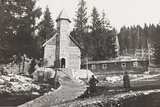World War I: Church of a Austrian Small Hospital in the Rosato Field Photographic Print